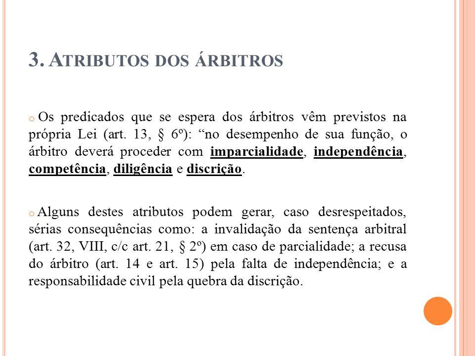 3. Atributos dos árbitros