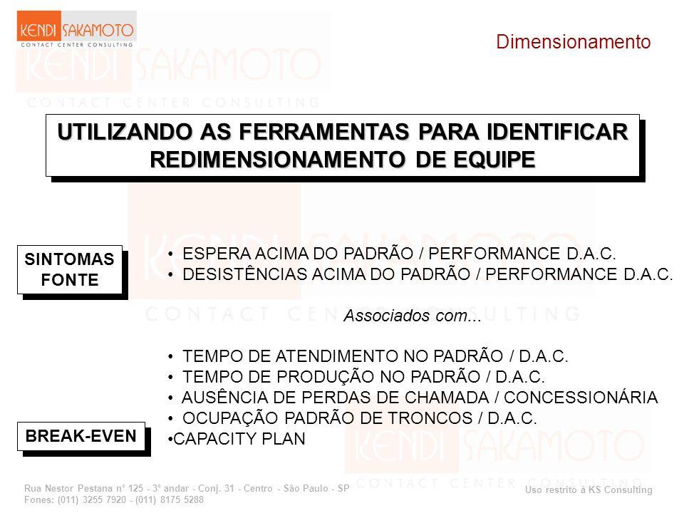 UTILIZANDO AS FERRAMENTAS PARA IDENTIFICAR REDIMENSIONAMENTO DE EQUIPE