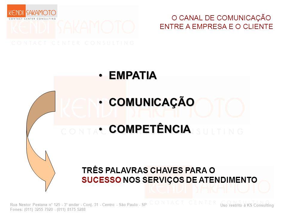 EMPATIA COMUNICAÇÃO COMPETÊNCIA TRÊS PALAVRAS CHAVES PARA O