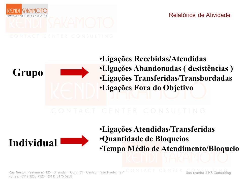 Grupo Individual Ligações Recebidas/Atendidas