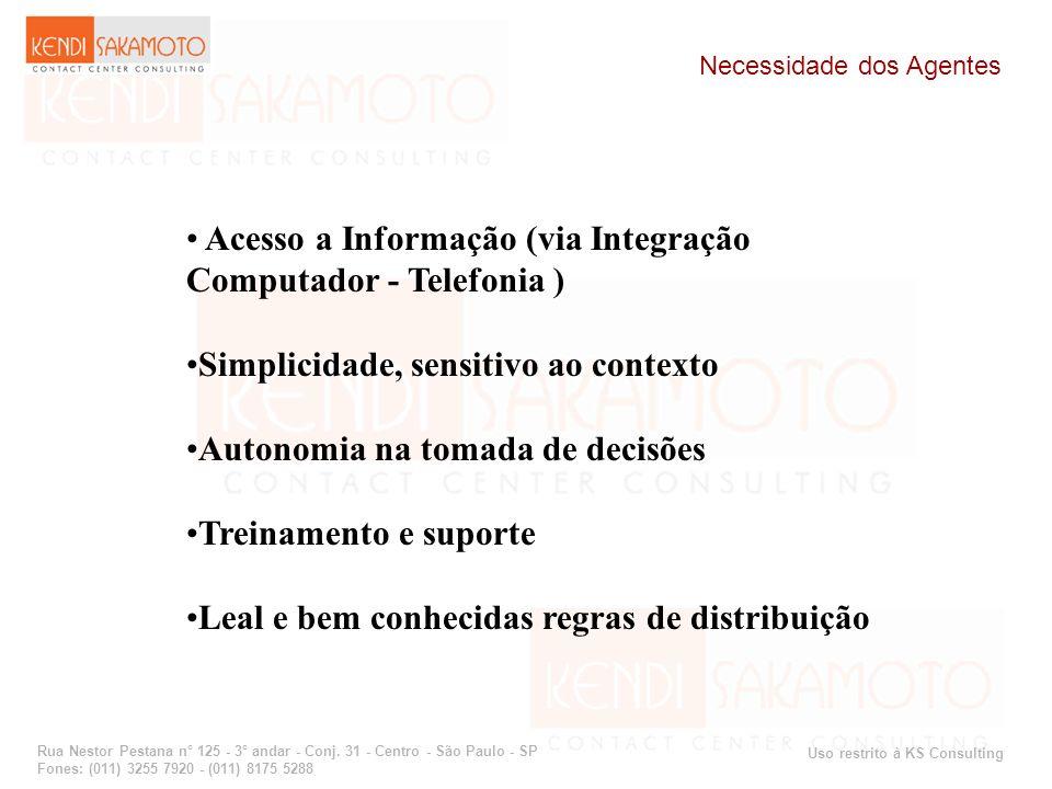 Acesso a Informação (via Integração Computador - Telefonia )