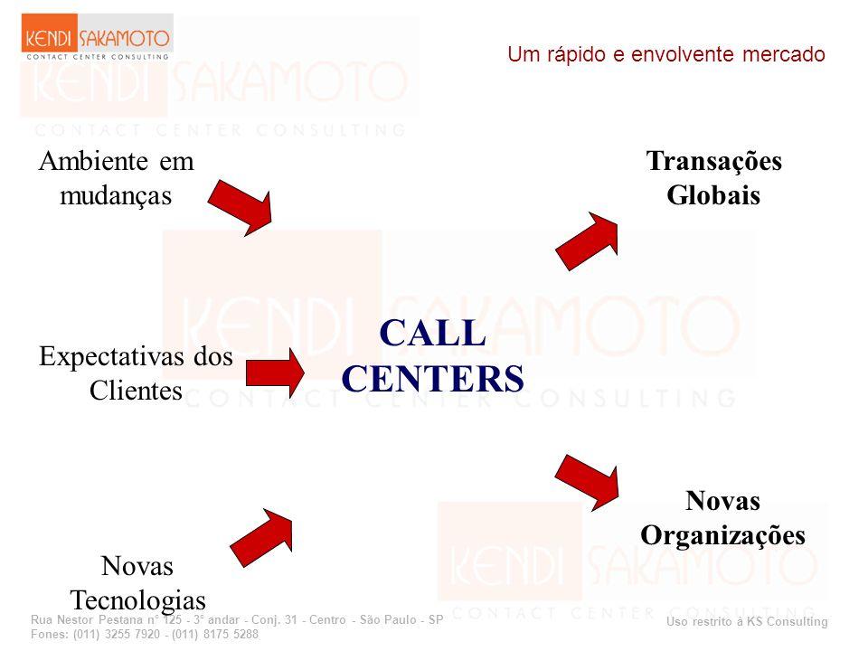 CALL CENTERS Ambiente em mudanças Transações Globais Expectativas dos