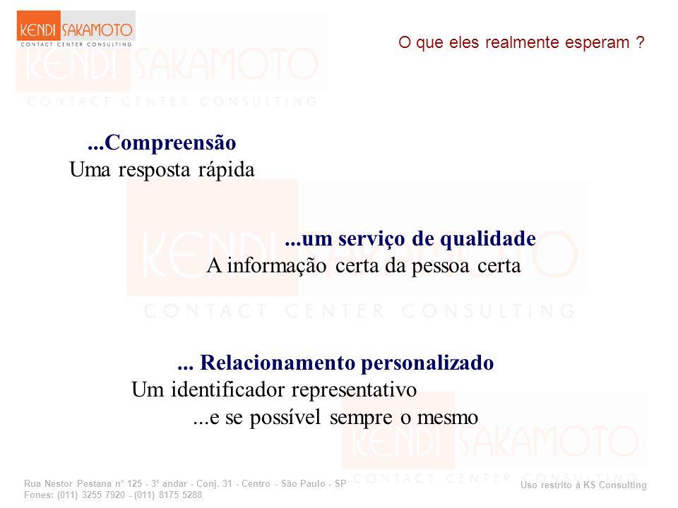 ...um serviço de qualidade ... Relacionamento personalizado
