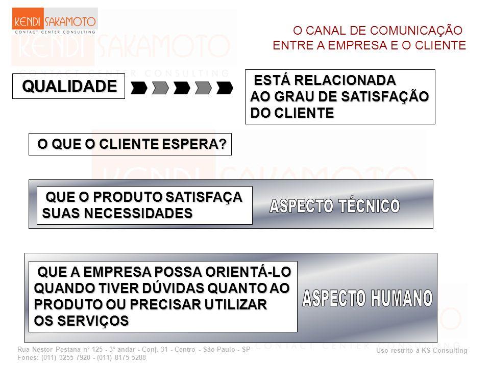 QUALIDADE ESTÁ RELACIONADA AO GRAU DE SATISFAÇÃO DO CLIENTE