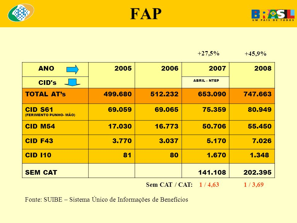 FAP +27,5% +45,9% ANO 2005 2006 2007 2008 CID s TOTAL AT's 499.680