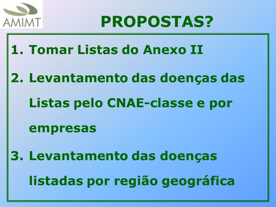 PROPOSTAS Tomar Listas do Anexo II