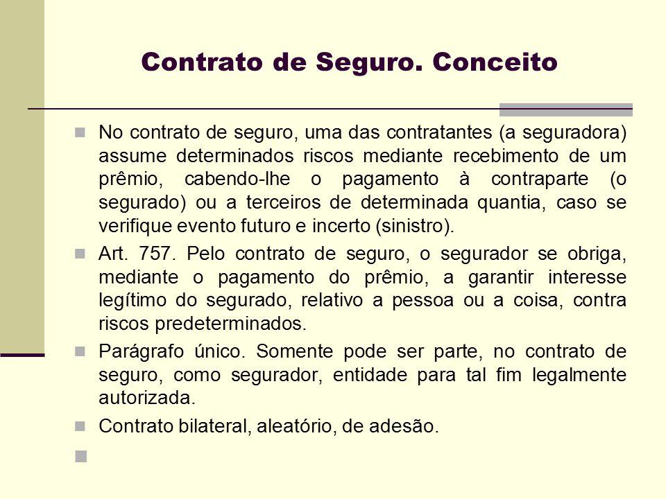 Contrato de Seguro. Conceito