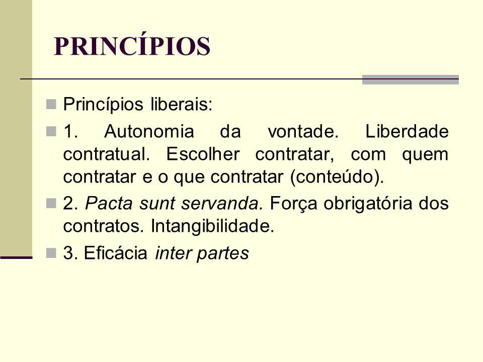 PRINCÍPIOS Princípios liberais: