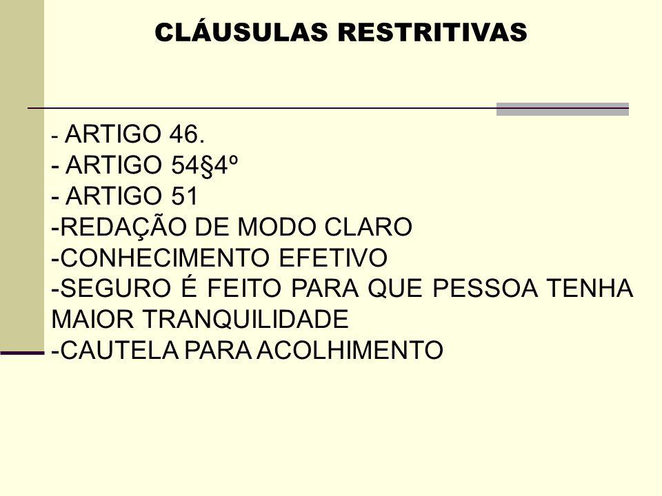 CLÁUSULAS RESTRITIVAS