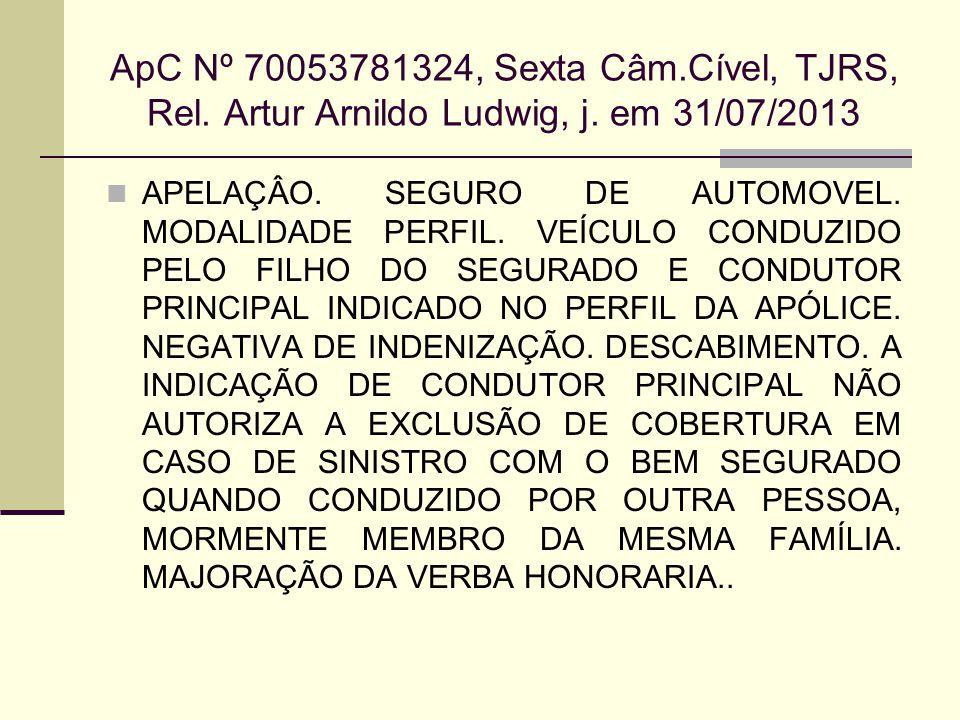 ApC Nº 70053781324, Sexta Câm. Cível, TJRS, Rel