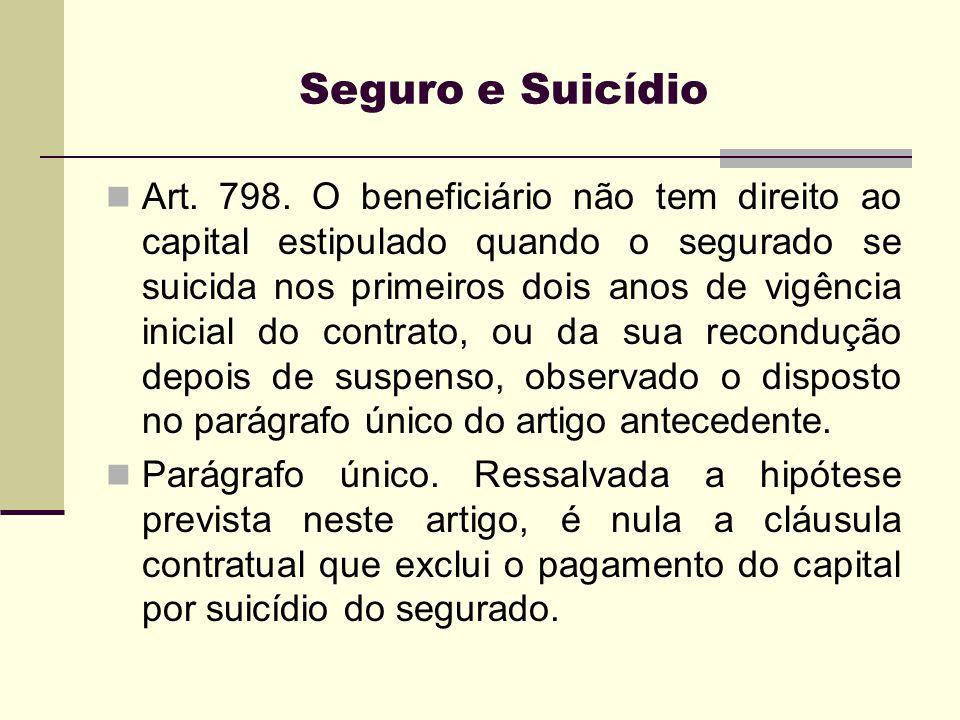 Seguro e Suicídio