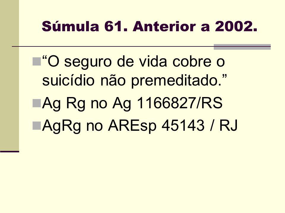 O seguro de vida cobre o suicídio não premeditado.