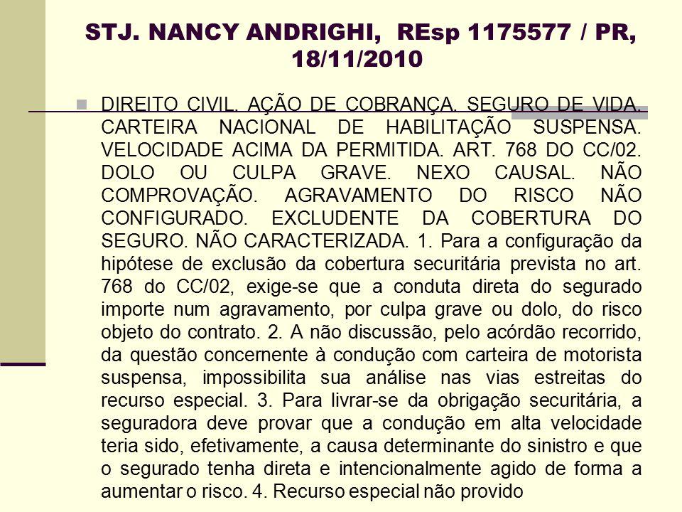 STJ. NANCY ANDRIGHI, REsp 1175577 / PR, 18/11/2010