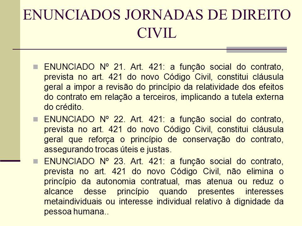 ENUNCIADOS JORNADAS DE DIREITO CIVIL