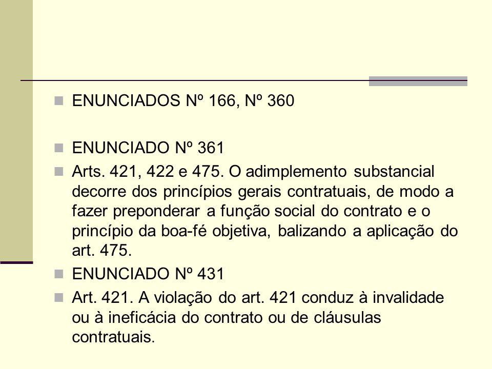 ENUNCIADOS Nº 166, Nº 360 ENUNCIADO Nº 361.