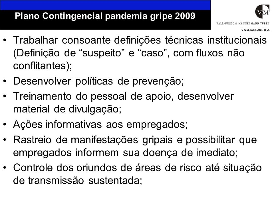 Plano Contingencial pandemia gripe 2009