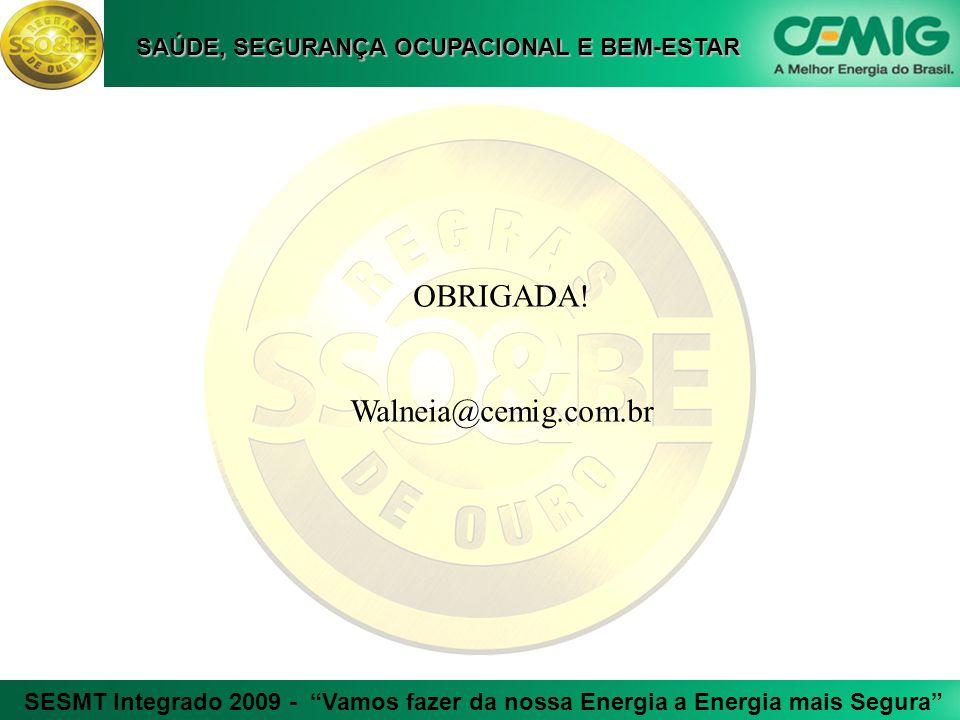OBRIGADA! Walneia@cemig.com.br