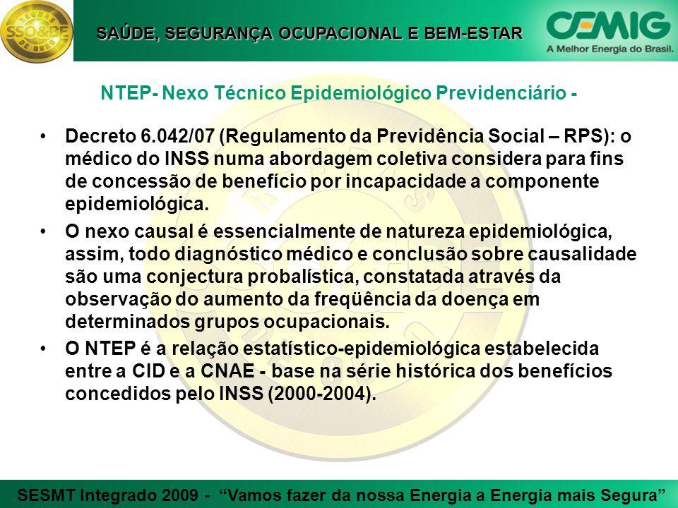 NTEP- Nexo Técnico Epidemiológico Previdenciário -