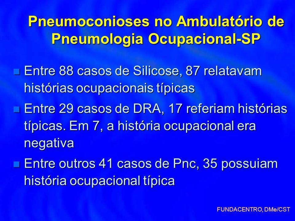 Pneumoconioses no Ambulatório de Pneumologia Ocupacional-SP
