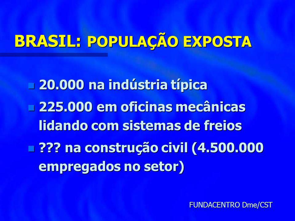 BRASIL: POPULAÇÃO EXPOSTA