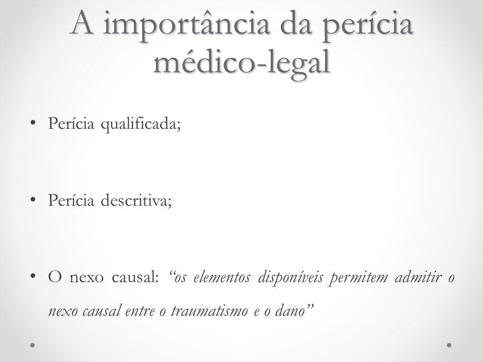 A importância da perícia médico-legal