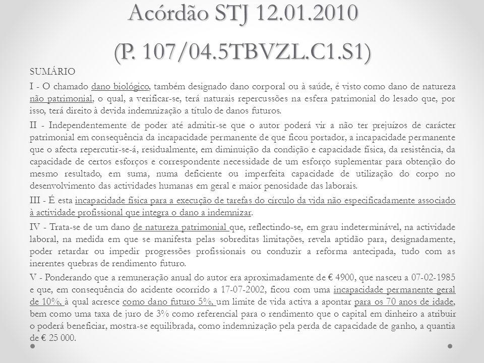 Acórdão STJ 12.01.2010 (P. 107/04.5TBVZL.C1.S1)