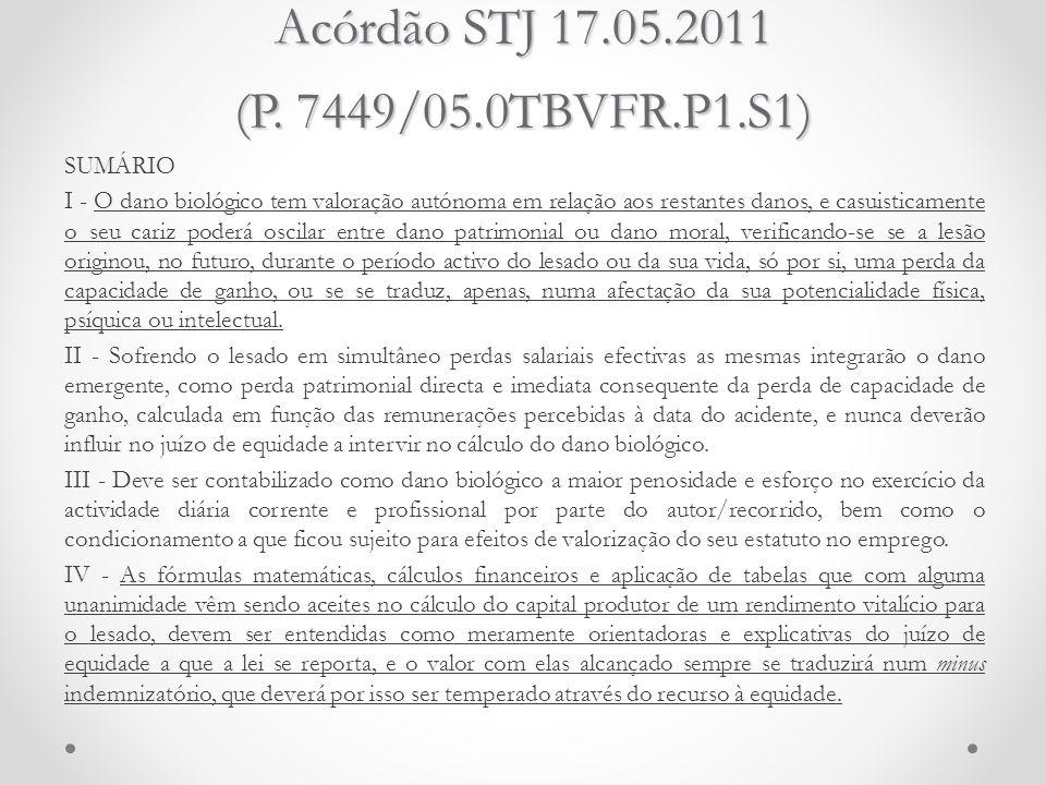 Acórdão STJ 17.05.2011 (P. 7449/05.0TBVFR.P1.S1)