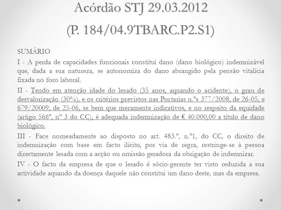 Acórdão STJ 29.03.2012 (P. 184/04.9TBARC.P2.S1)