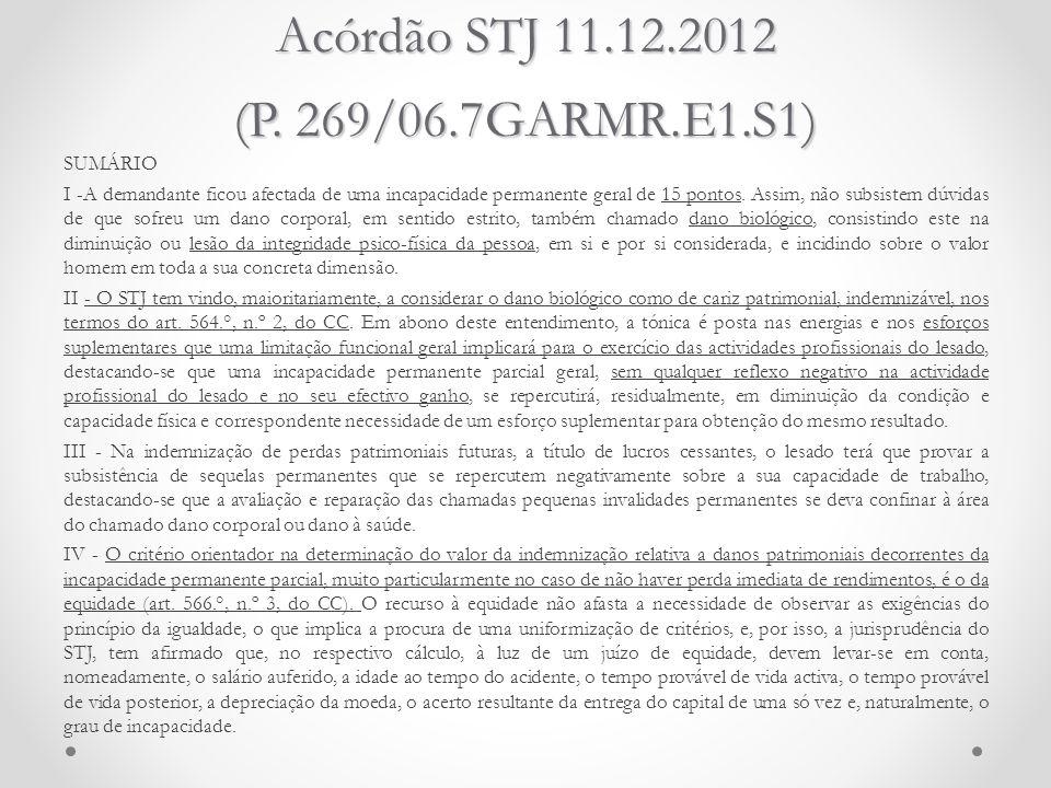 Acórdão STJ 11.12.2012 (P. 269/06.7GARMR.E1.S1)