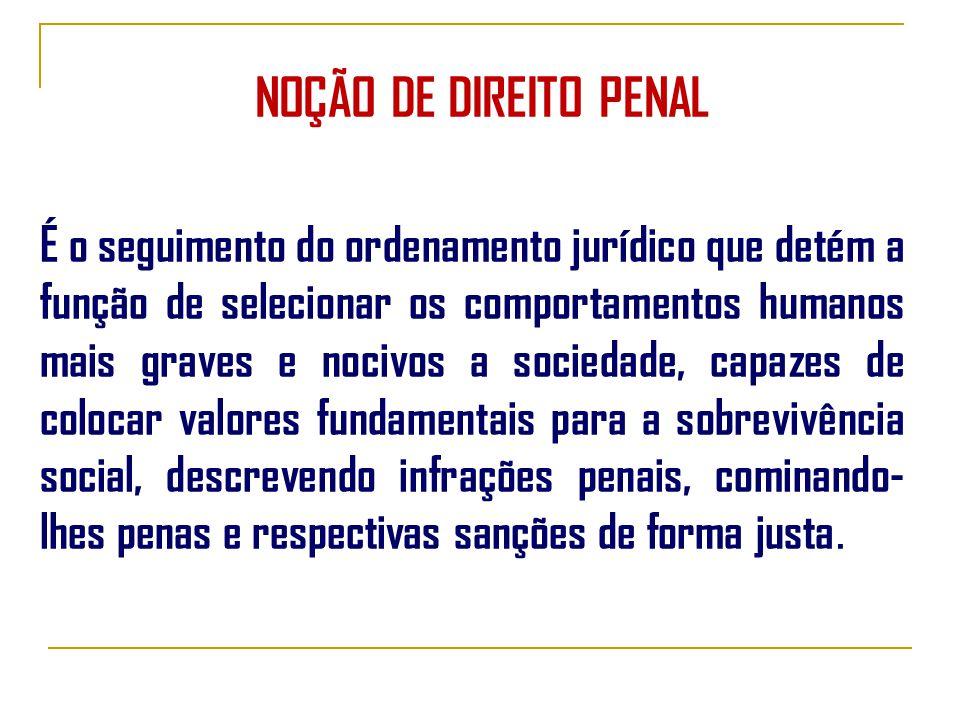 NOÇÃO DE DIREITO PENAL
