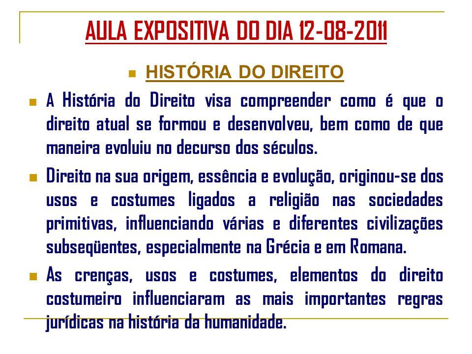 AULA EXPOSITIVA DO DIA 12-08-2011