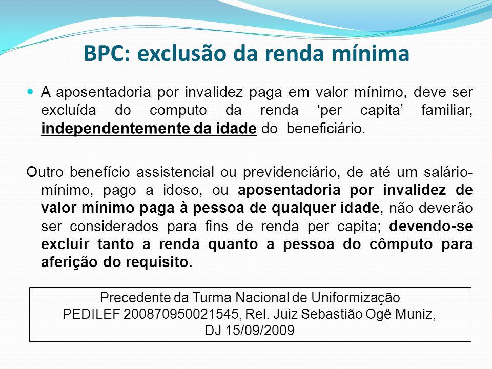 BPC: exclusão da renda mínima