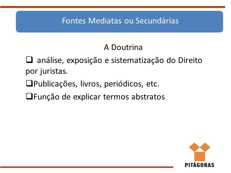 Fontes Mediatas ou Secundárias