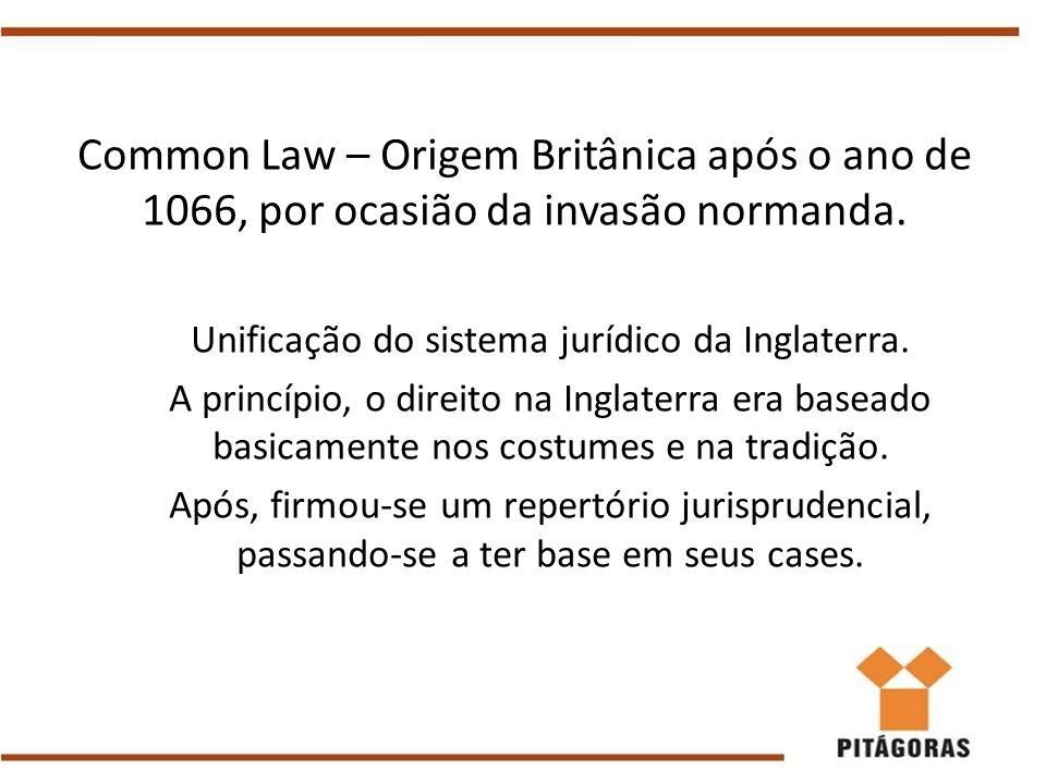 Unificação do sistema jurídico da Inglaterra.