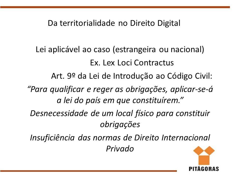 Da territorialidade no Direito Digital