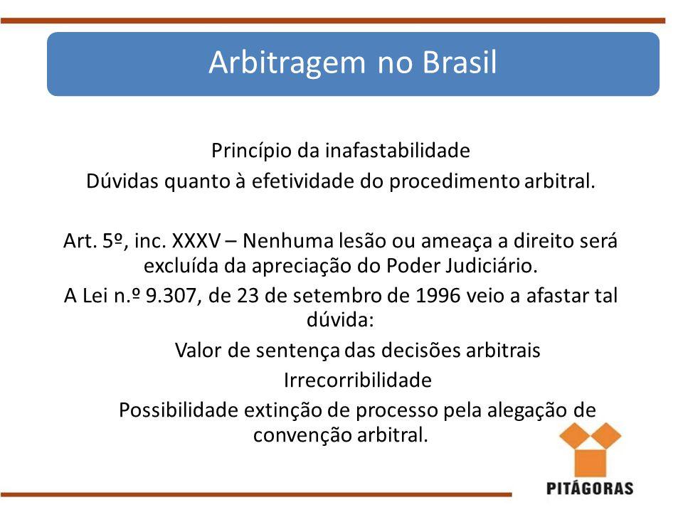Arbitragem no Brasil Princípio da inafastabilidade
