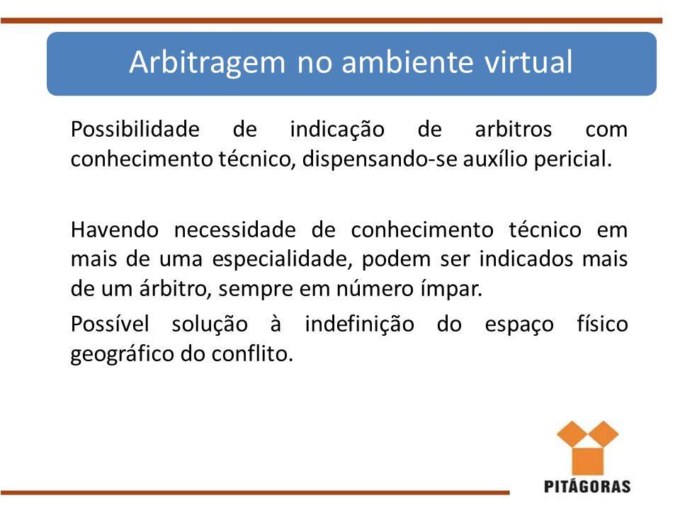 Arbitragem no ambiente virtual