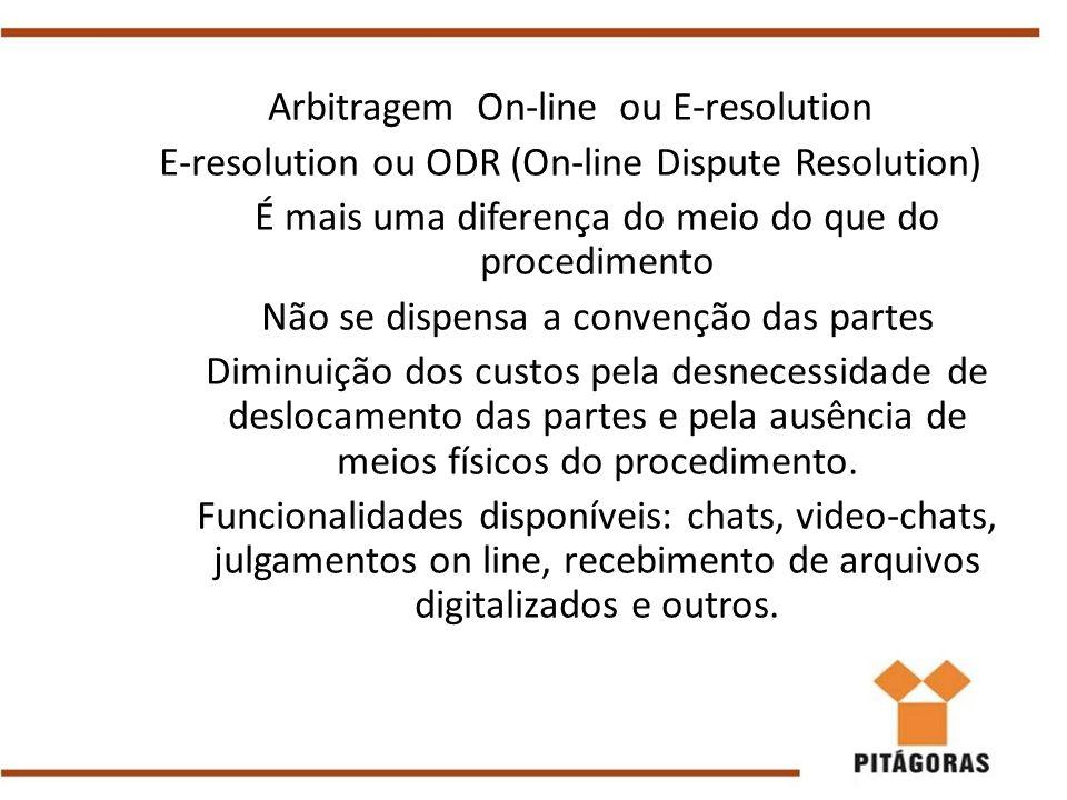 Arbitragem On-line ou E-resolution