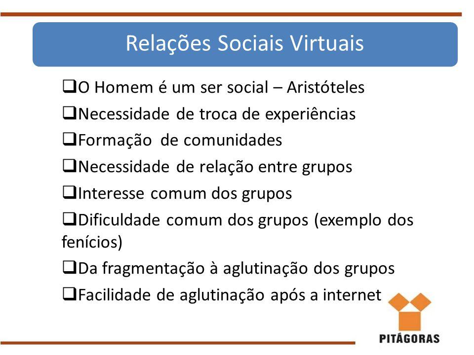 Relações Sociais Virtuais