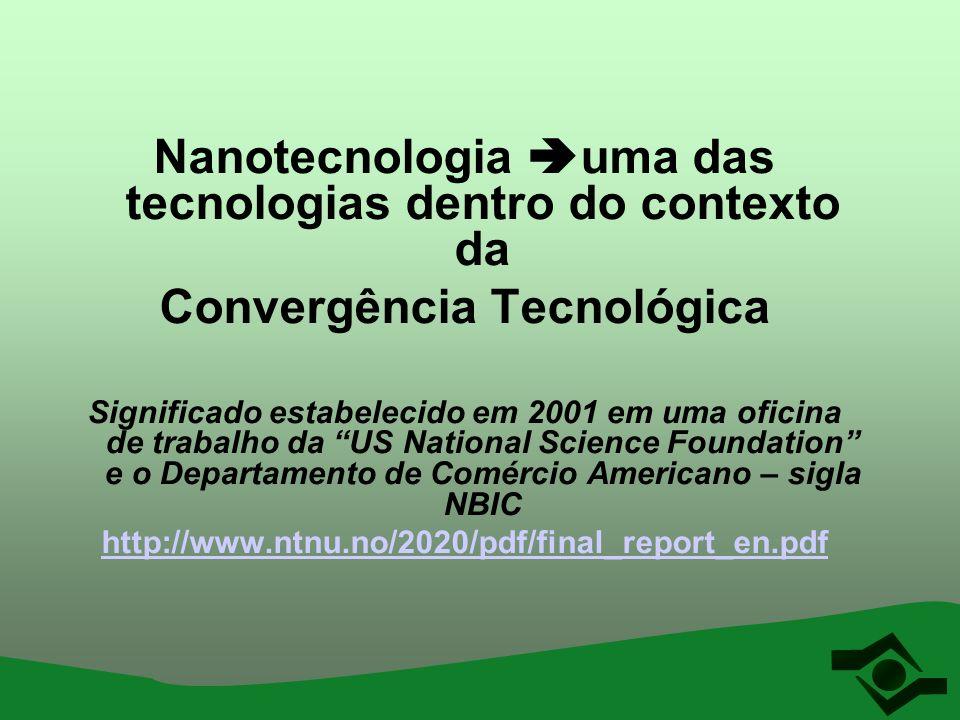 Nanotecnologia uma das tecnologias dentro do contexto da