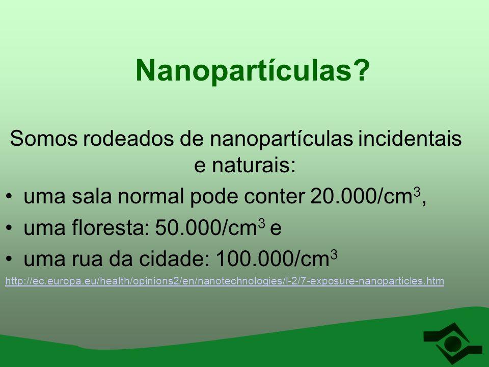 Somos rodeados de nanopartículas incidentais e naturais: