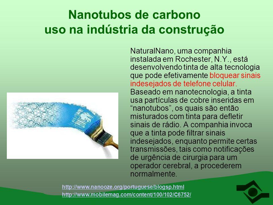 Nanotubos de carbono uso na indústria da construção