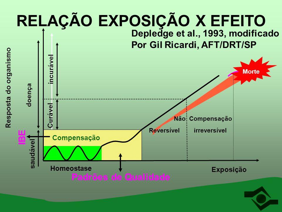 RELAÇÃO EXPOSIÇÃO X EFEITO