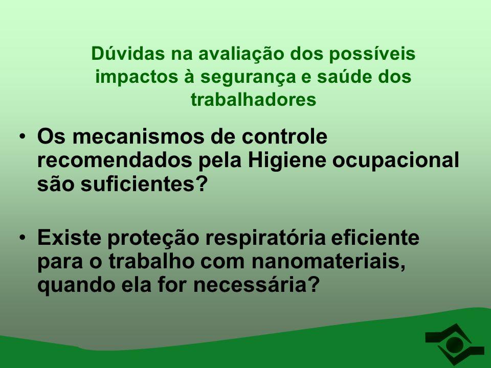 Dúvidas na avaliação dos possíveis impactos à segurança e saúde dos trabalhadores