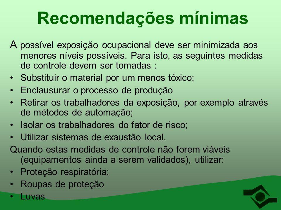 Recomendações mínimas