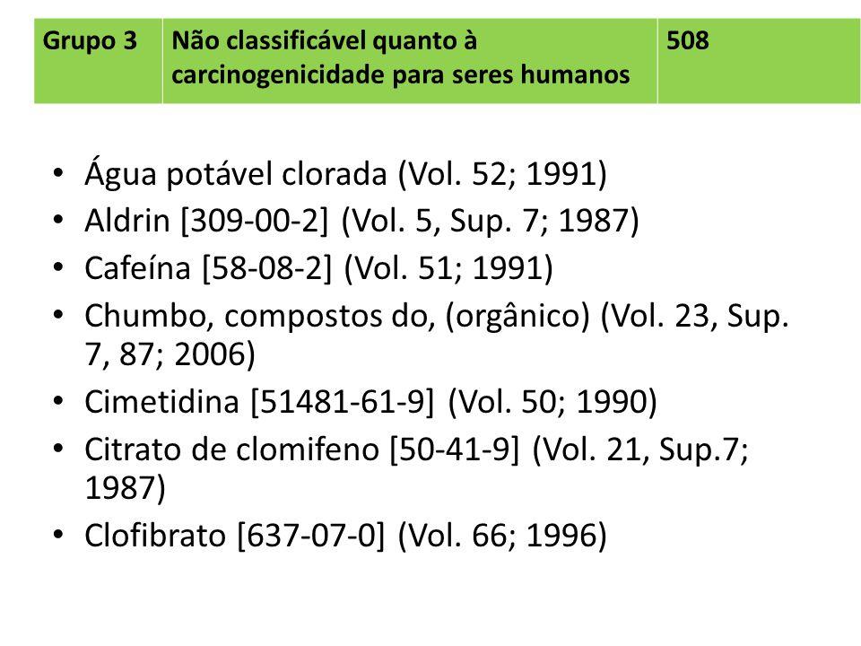 Água potável clorada (Vol. 52; 1991)