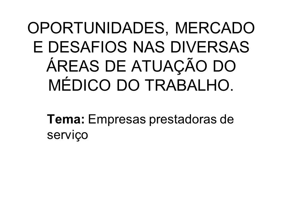 Tema: Empresas prestadoras de serviço