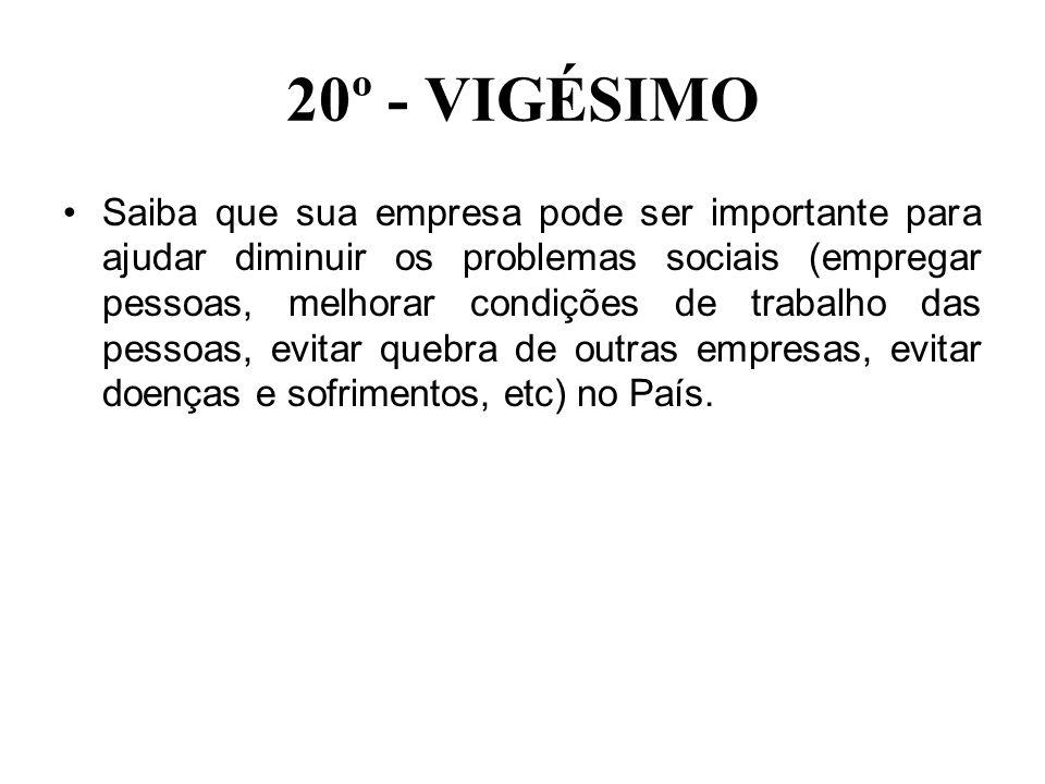 20º - VIGÉSIMO