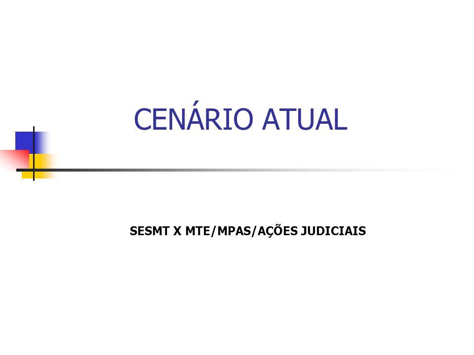 SESMT X MTE/MPAS/AÇÕES JUDICIAIS