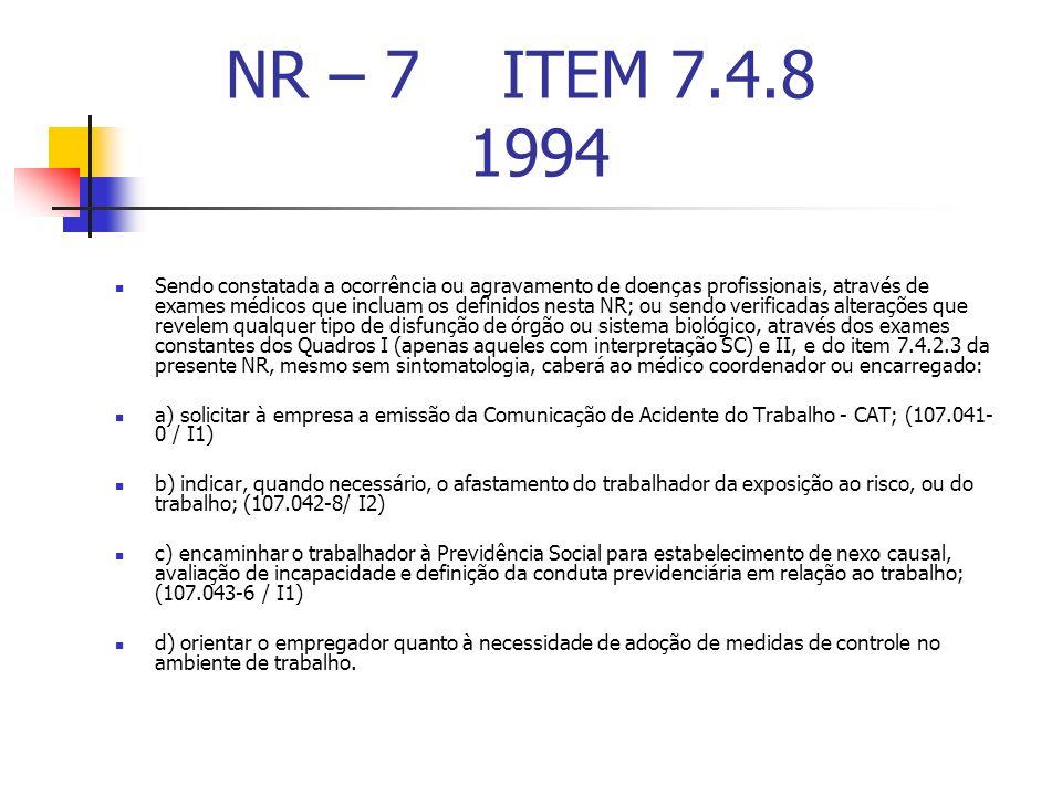 NR – 7 ITEM 7.4.8 1994